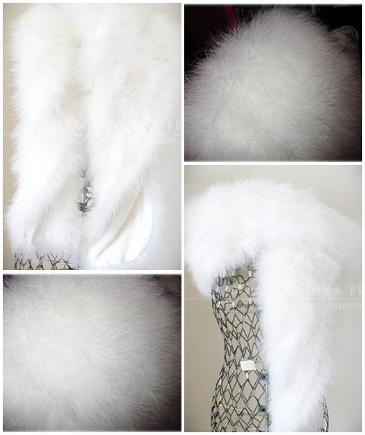 Ostrich Feather Wrap ~ Fur Fashion